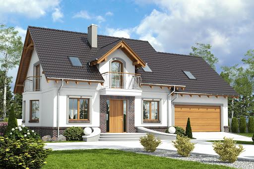 projekt Dom Dla Ciebie 5 z garażem 2-st. A1