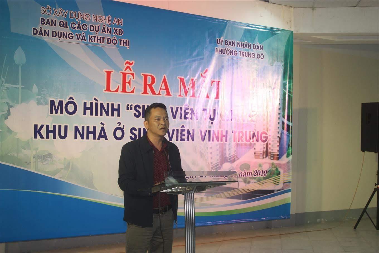 Ông Nguyễn Xuân Huân, Chủ tịch UBND phường Trung Đô phát biểu