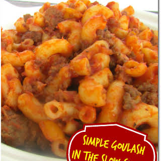 Slow Cooker Ground Meat Goulash!.