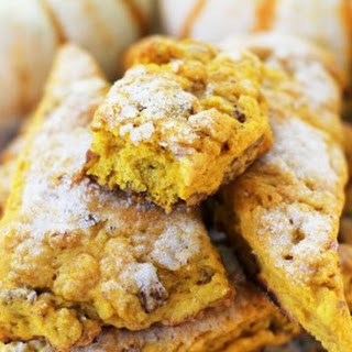 Sugar-Topped Pumpkin Pecan Scones