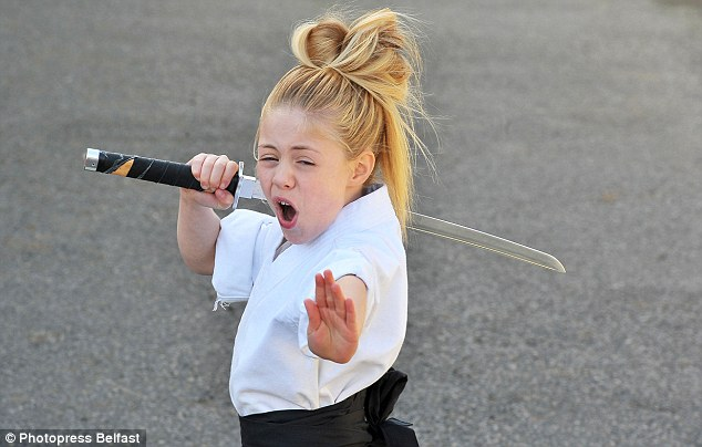 Fearsome: Jesse Jane isn't your average nine-year-old