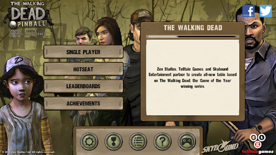 The Walking Dead Pinball Screenshot
