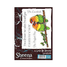 Sheena Douglass A Little Bit Sketchy A6 Stamp Set - Lovebirds UTGÅENDE