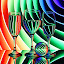 Rainbow Pages by Sam Sampson - Artistic Objects Glass ( reflection, pattern, glasses, colorful, rainbow )