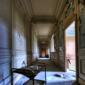 Hallway3 by Richard Huntjens - Buildings & Architecture Other Interior ( detail, urbex, hallway, abandoned, decay )