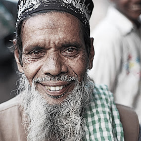 say cheese and he smiled :D by Usman Irani - People Portraits of Men ( old, smile, bunny teeth, portrait, man, , Travel, People, Lifestyle, Culture )