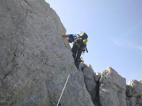 Photo: precenje in poplezavanje grebena pred kaminom