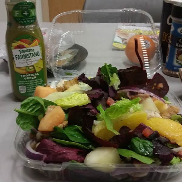 From Instagram: Healthy Me Salad, With Baby Purple Cabbage, Butter Bibb Lettuce, Spinach, Diced Tomatoes, Mushrooms, Honeydew, And Cantaloupe And Purple Onion. Http://instagram.com/p/yuqy9cvybt/