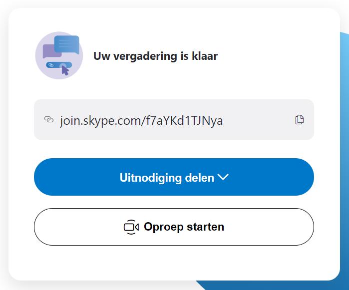 Skype link delen