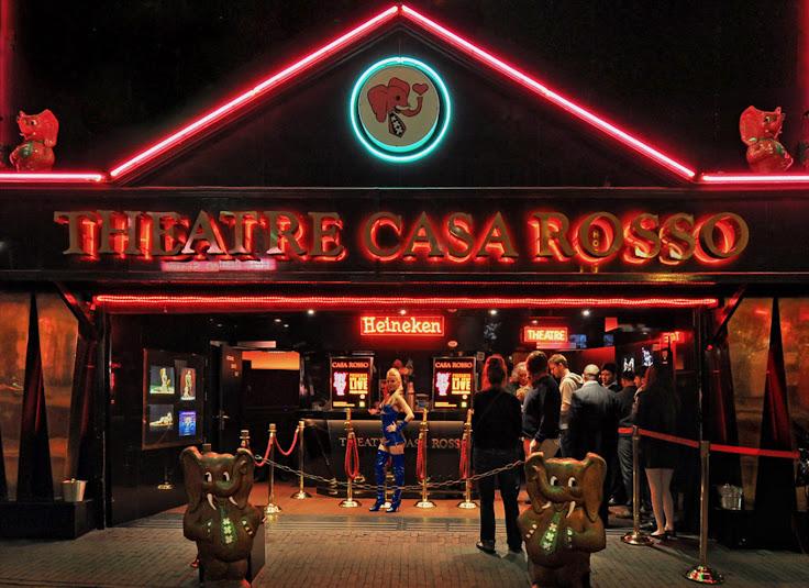 The scene outside of the Theatre Casa Rosso.  Photo: Martin Alberts.