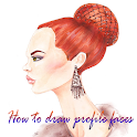How to draw profile faces icon