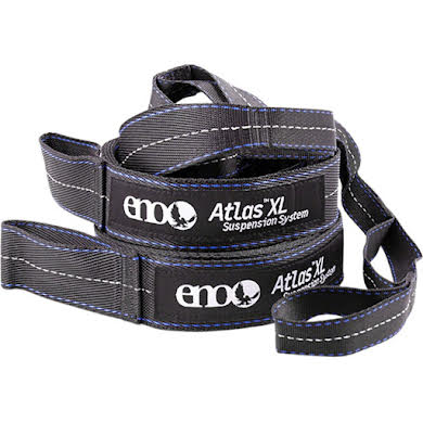 Eagles Nest Outfitters Atlas XL Straps, 13.5', Charcoal/Royal Blue, Pair