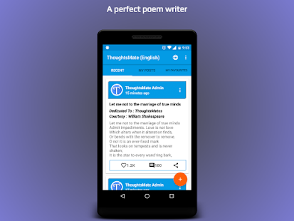 ThoughtsMate (Poem Writer) - náhled