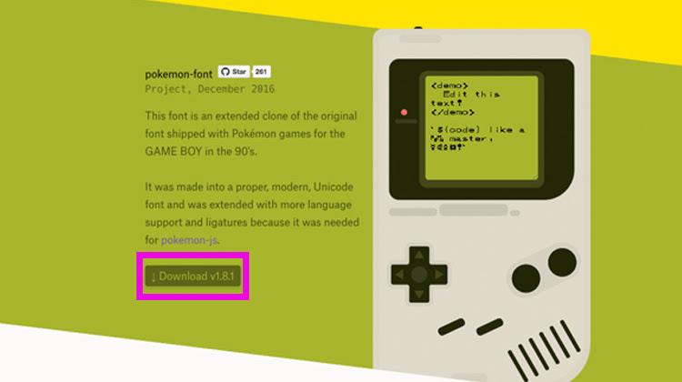 日本語のひらがなとカタカナも対応 -pokemon font-