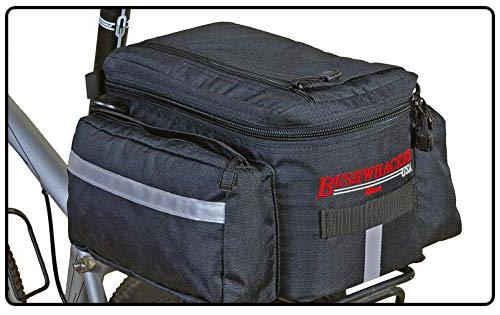 Bushwhacker Mesa Trunk Bag Black - w/Rear Light Clip Attachment & Reflective