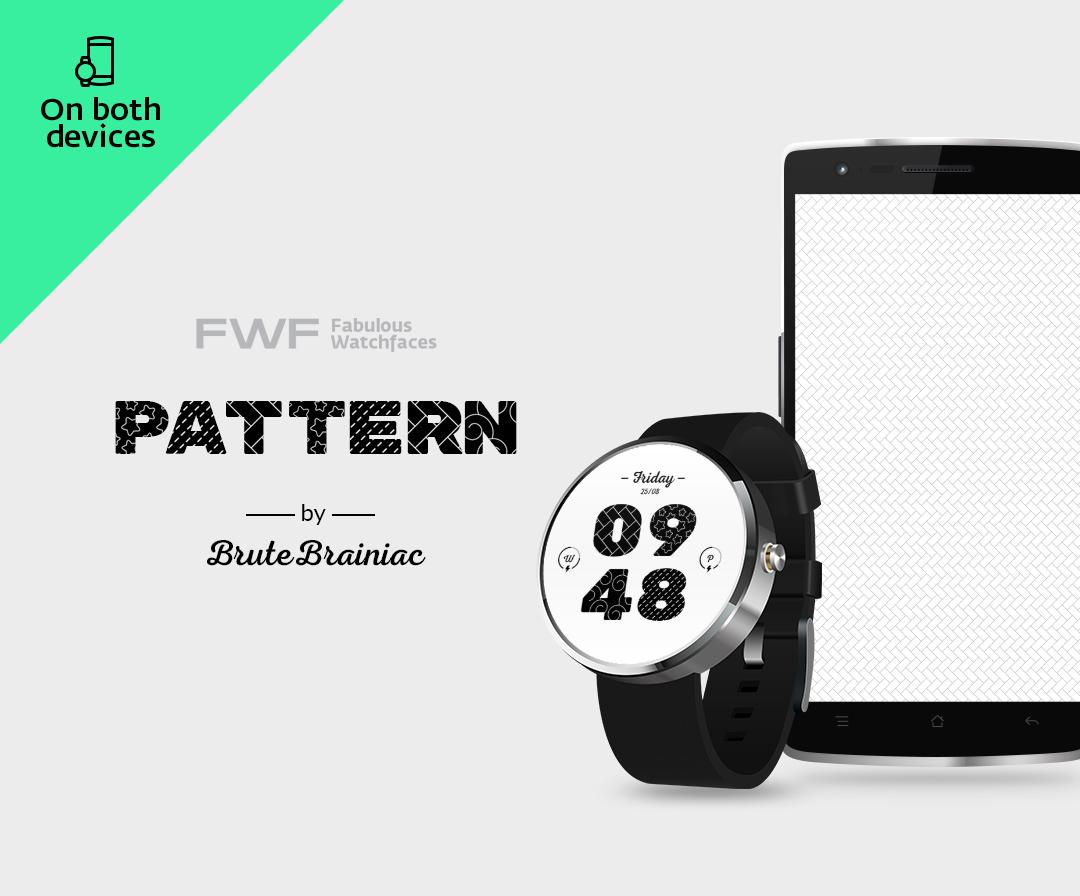 Pattern Digital Watch Face FWF- screenshot