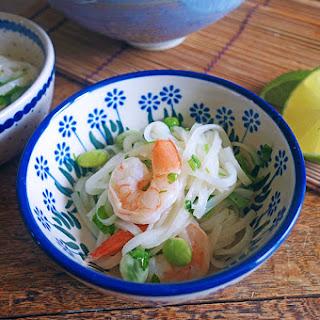 Prawn Noodle Salad with Yuzu Wasabi Dressing