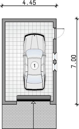 Z 25 - Rzut garażu