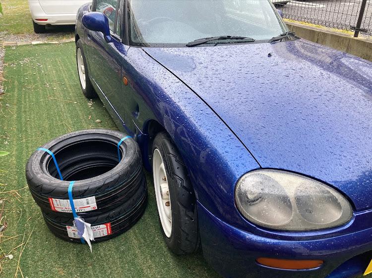 カプチーノ EA11Rの車検完了♪,タイヤ,カプチーノに関するカスタム&メンテナンスの投稿画像1枚目