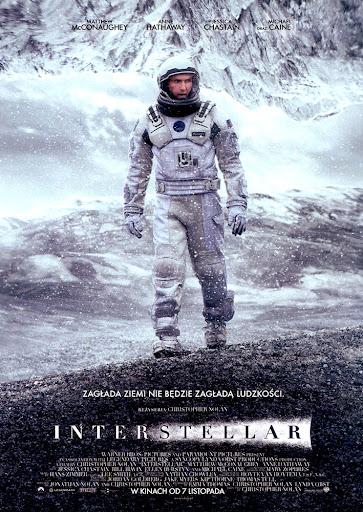 Przód ulotki filmu 'Interstellar'