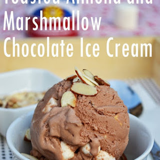 Toasted Almond and Marshmallow Chocolate Ice Cream