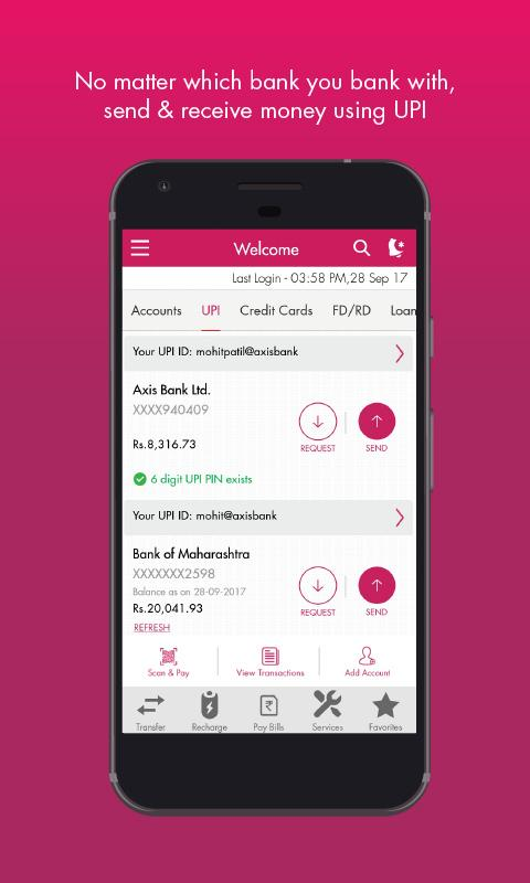 Miles & more credit card india axis bank mobile app.