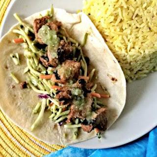Grilled Chicken Tikki Tacos.