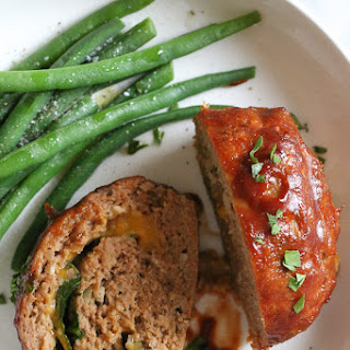 Cheese Stuffed Turkey Meatloaf.