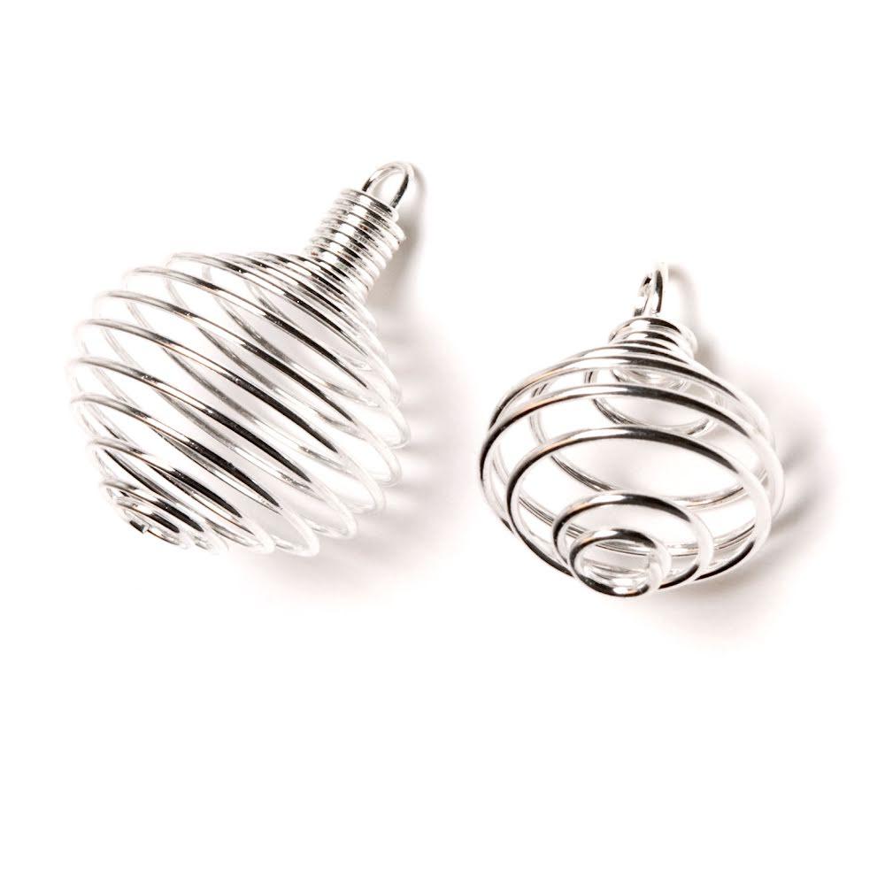 Spiral silverfärg med ögla