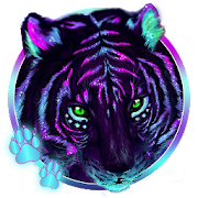 Cool Neon Tiger 3D Live Lock Screen Wallpapers