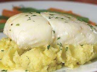 Halibut, with a white Belgian beer-sauce.