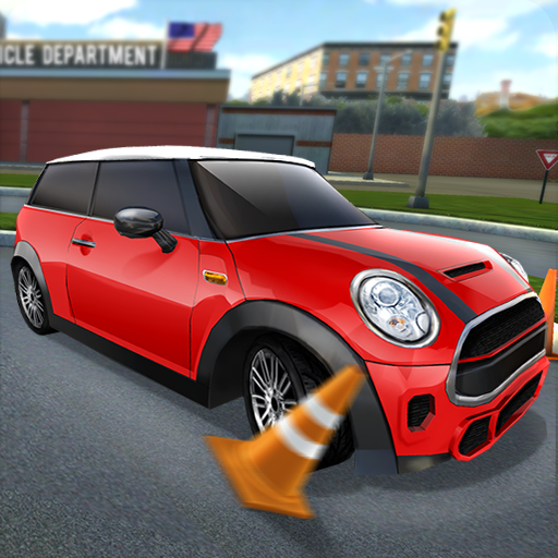 City Car Driving & Parking School Test Simulator Icon