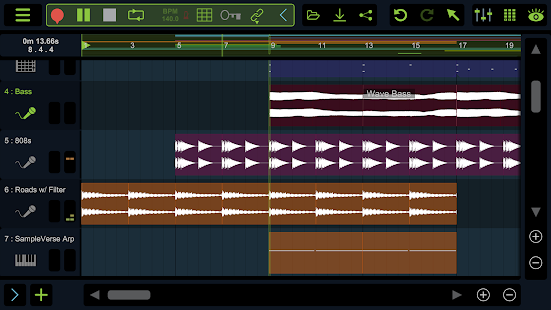 Stagelight: Audio and MIDI DAW Screenshot