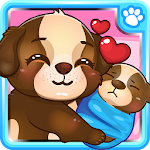 Cute Baby Puppy Care Icon
