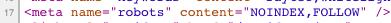 Такие URL не были заблокированы в robots.txt, а на странице находится тег