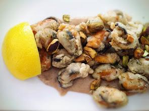 Photo: Midyes (fried mussels, walnut tarator sauce)