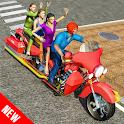 Long Bike Taxi Driver: Passenger Transport icon