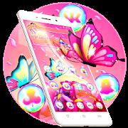 رائع موضوع الفراشة الوردي APK
