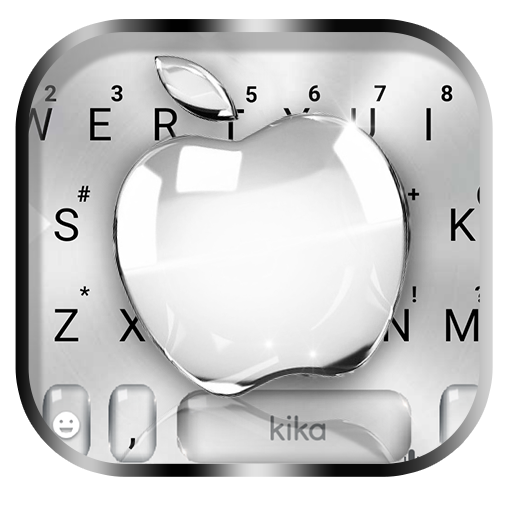 Silver Crystal Apple Keyboard Theme file APK for Gaming PC/PS3/PS4 Smart TV