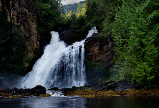 Photo: Waterfall Near Misty Fjords