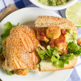 Spicy Cornmeal-Crusted Tofu Sandwiches.