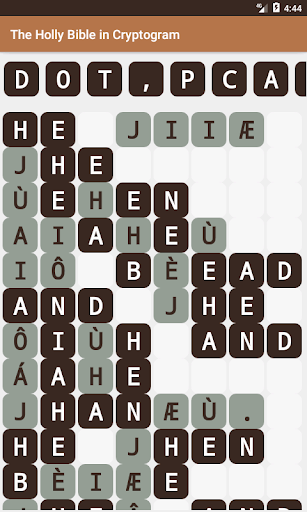 The Holy Bible in Cryptogram screenshots 2