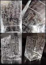 Photo: chancelière sur verre...