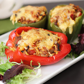Beef and Black Olive Stuffed Peppers