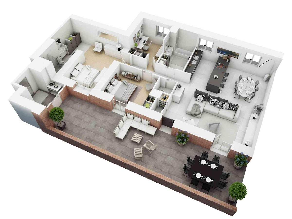 Free 3d Home Floor Plan Drawing