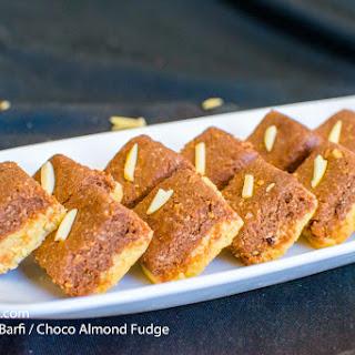 Choco Badam Barfi / Choco Almond Fudge 2