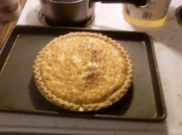Egg Nog Custard Pie Recipe