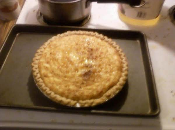 Egg Nog Custard Pie