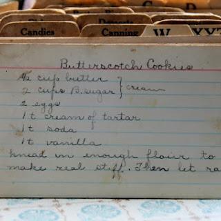Butterscotch Cookies.