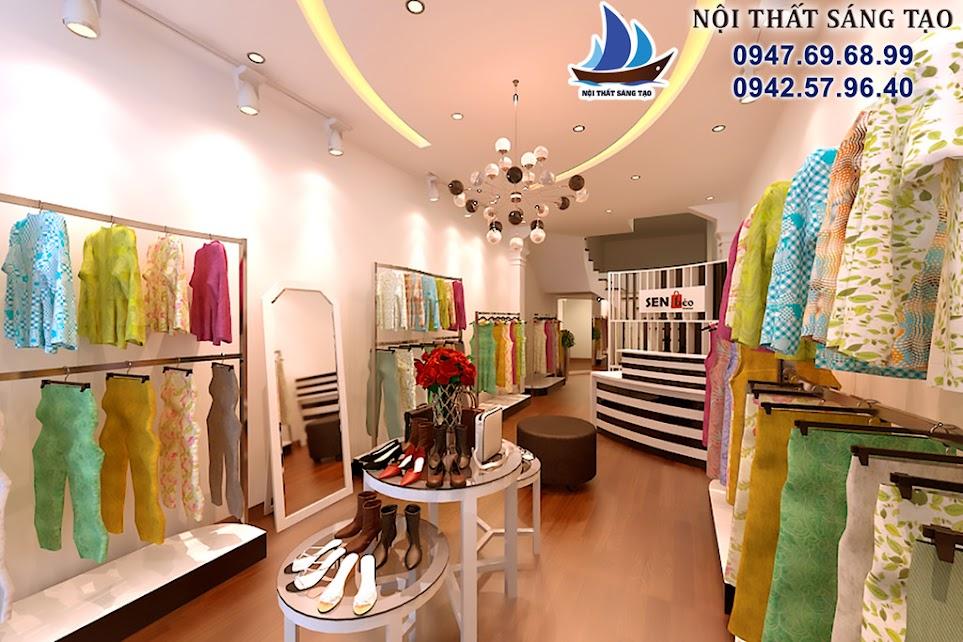 thiết kế cửa hàng thời trang phong cách